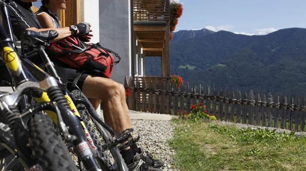 Biken und Rad fahren in Südtirol - Mountainbike Urlaub - Roter Hahn
